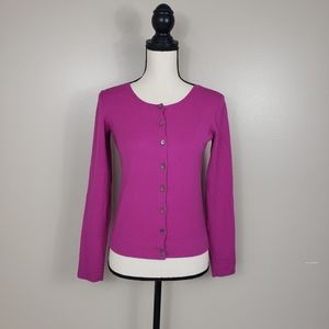 THEORY Pink Wool Lizzy New Steady Cardigan